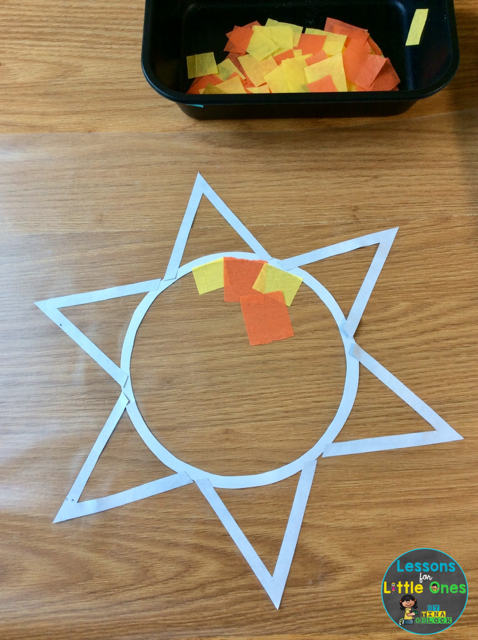 sun suncatcher craft activity