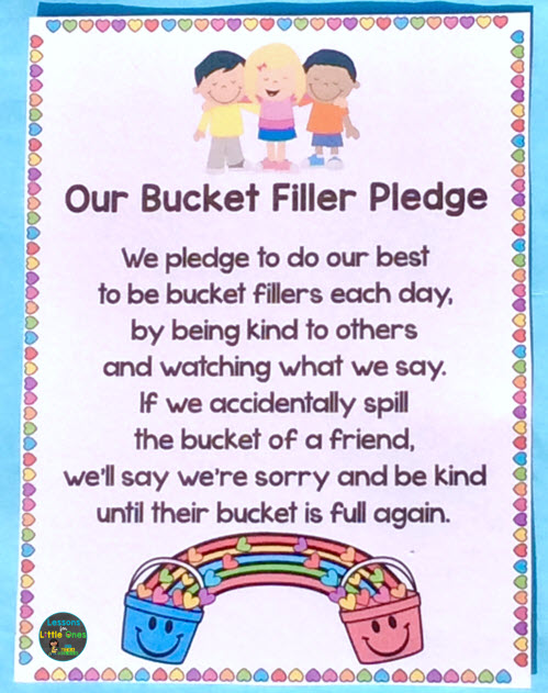 bucket filler class pledge