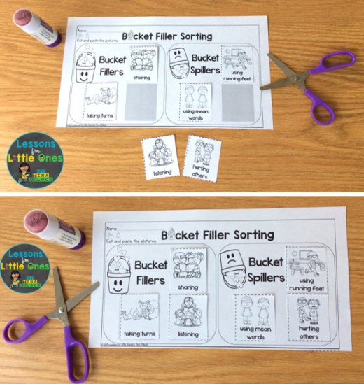 bucket filler printable