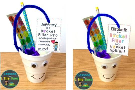 bucket filler treat tags