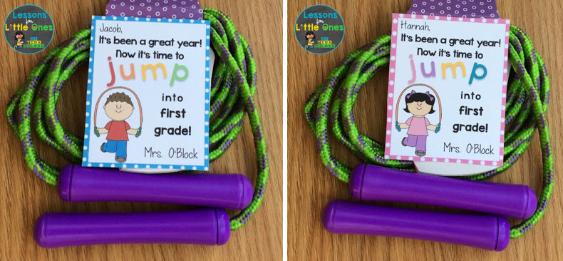 end of the school year gift tag jump rope