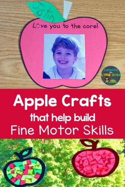 apple crafts that help build fine motor skills