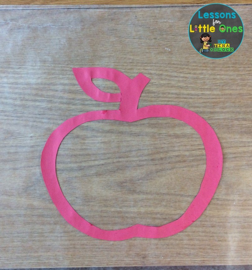 apple suncatcher craft wax paper