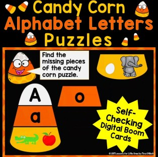 Candy Corn Alphabet Letters Puzzles Digital Boom Cards