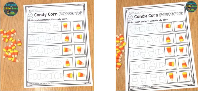 candy corn math patterns
