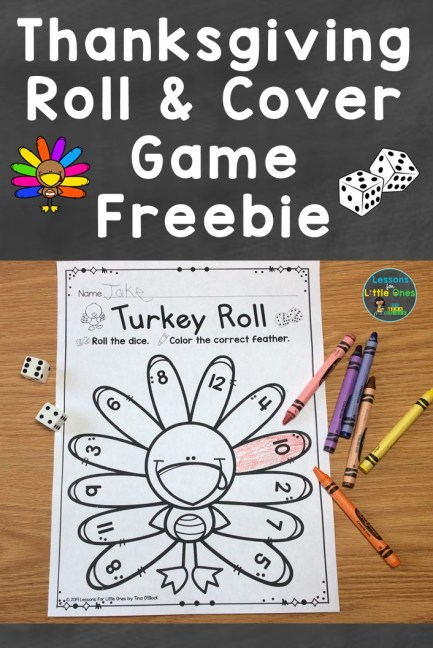 Thanksgiving Roll & Cover Game Freebie