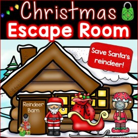 Christmas Escape Room Kindergarten First Grade