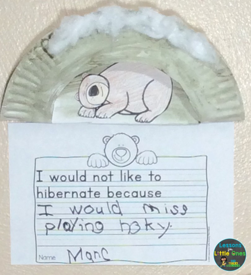 hibernation craft and writing activity