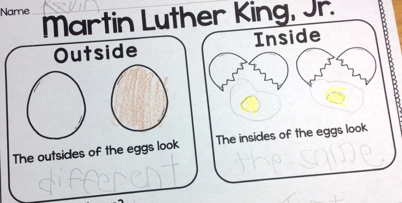 Martin Luther King Jr. egg activity page
