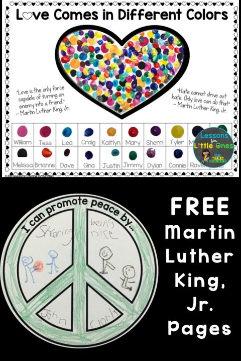Free Martin Luther King Jr Pages Crafts