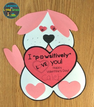 student-made valentine card
