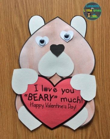valentines day card love you beary much