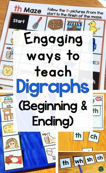 beginning digraph activities ending digraph activities