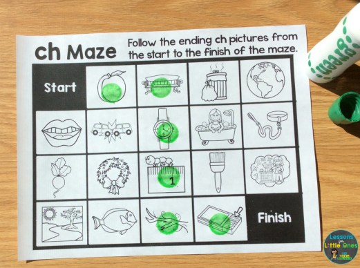 ending digraphs maze printable page