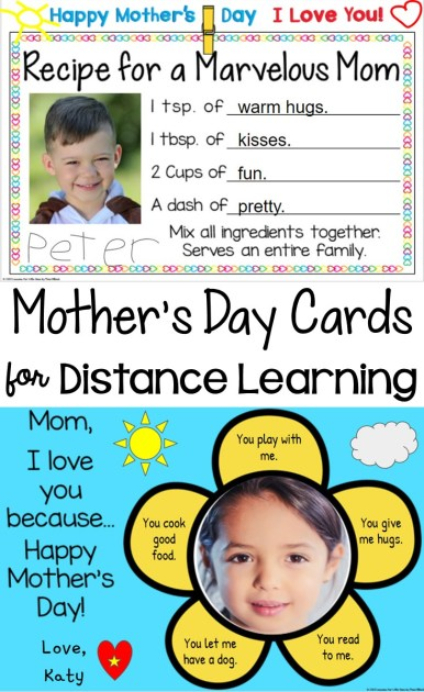 Mother's Day Cards for Distance Learning