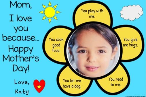 Mother's Day Digital Card for Distance Learning