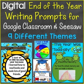 End of the Year Writing Prompts for Distance Learning