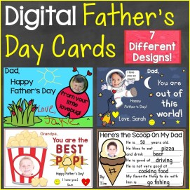Father's Day Cards for Distance Learning Digital Ecards