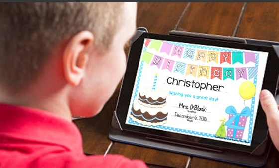 Digital Birthday Certificates for Students