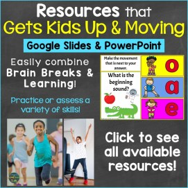 Brain Breaks Resources that combine movement with learning