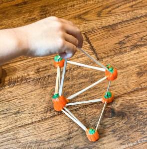 pumpkin STEM tower challenge
