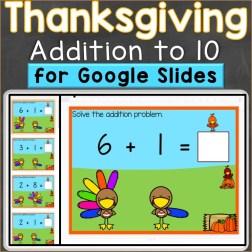 Thanksgiving Addition to 10 Google Classroom Digital