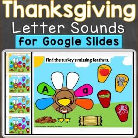 Thanksgiving Beginning Sounds Letter Sounds Google