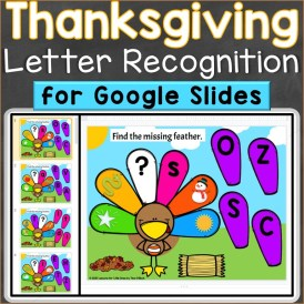 Thanksgiving alphabet letters uppercase lowercase Google Classroom