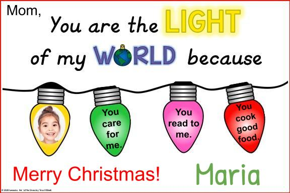 parent Christmas card digital