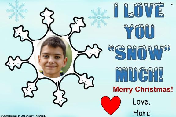 digital Christmas ecard for distance learning