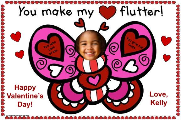 digital valentine card for Google Classroom