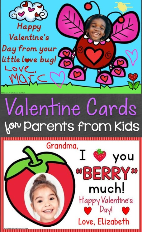 valentine cards for parents from kids digital