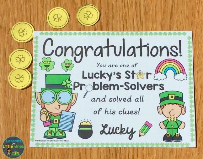 St. Patrick's Day Escape Room Award