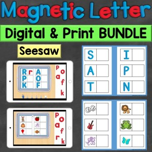 Alphabet Letters Letter Sounds Print Digital Seesaw