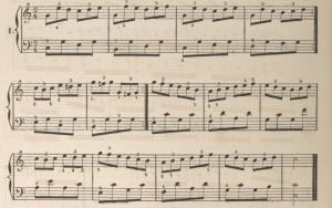 Trois pour deux au piano et régularité