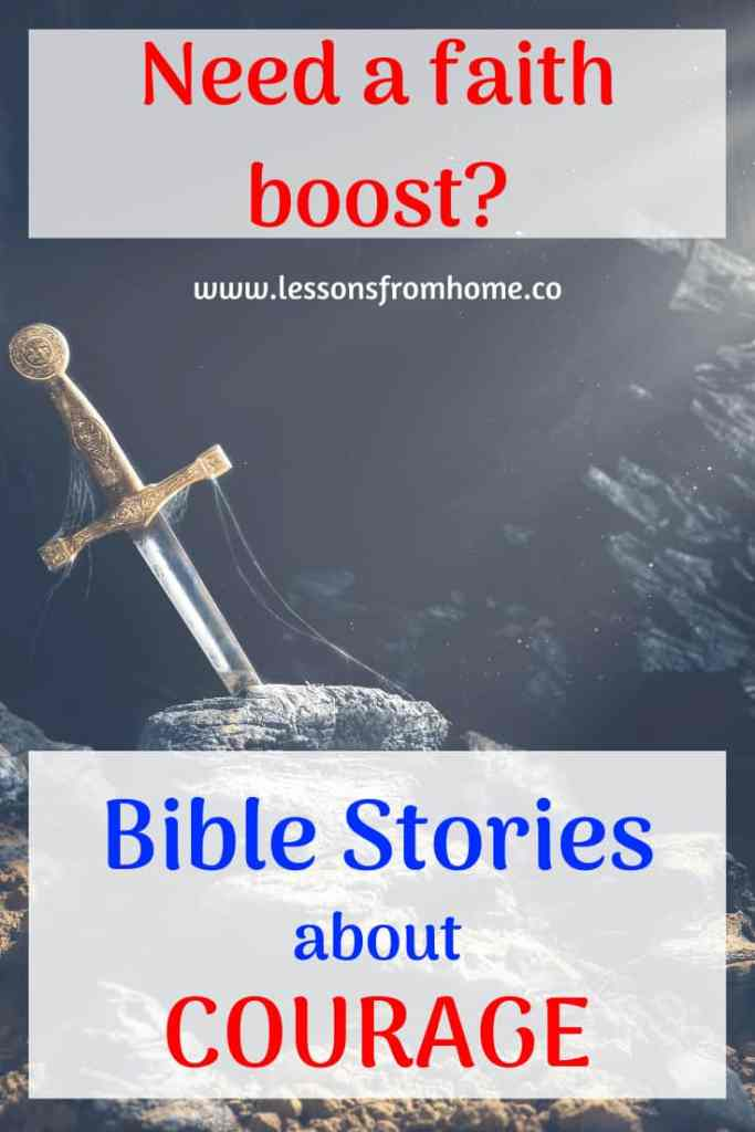 bible stories about courage