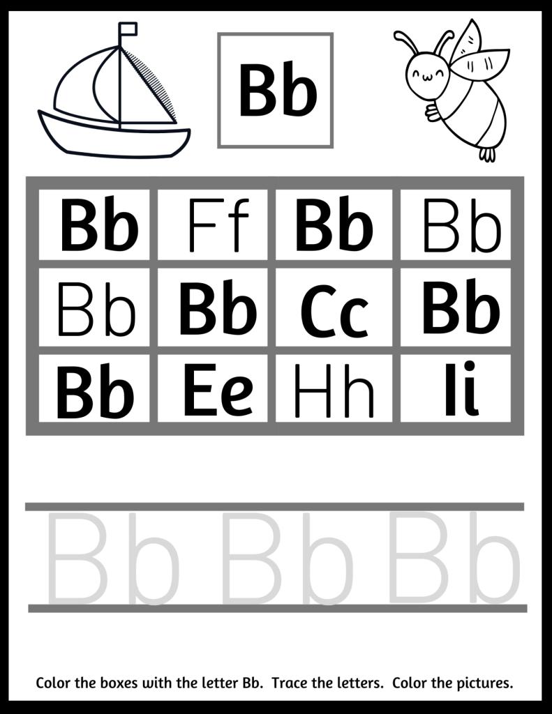 find the letter b worksheets