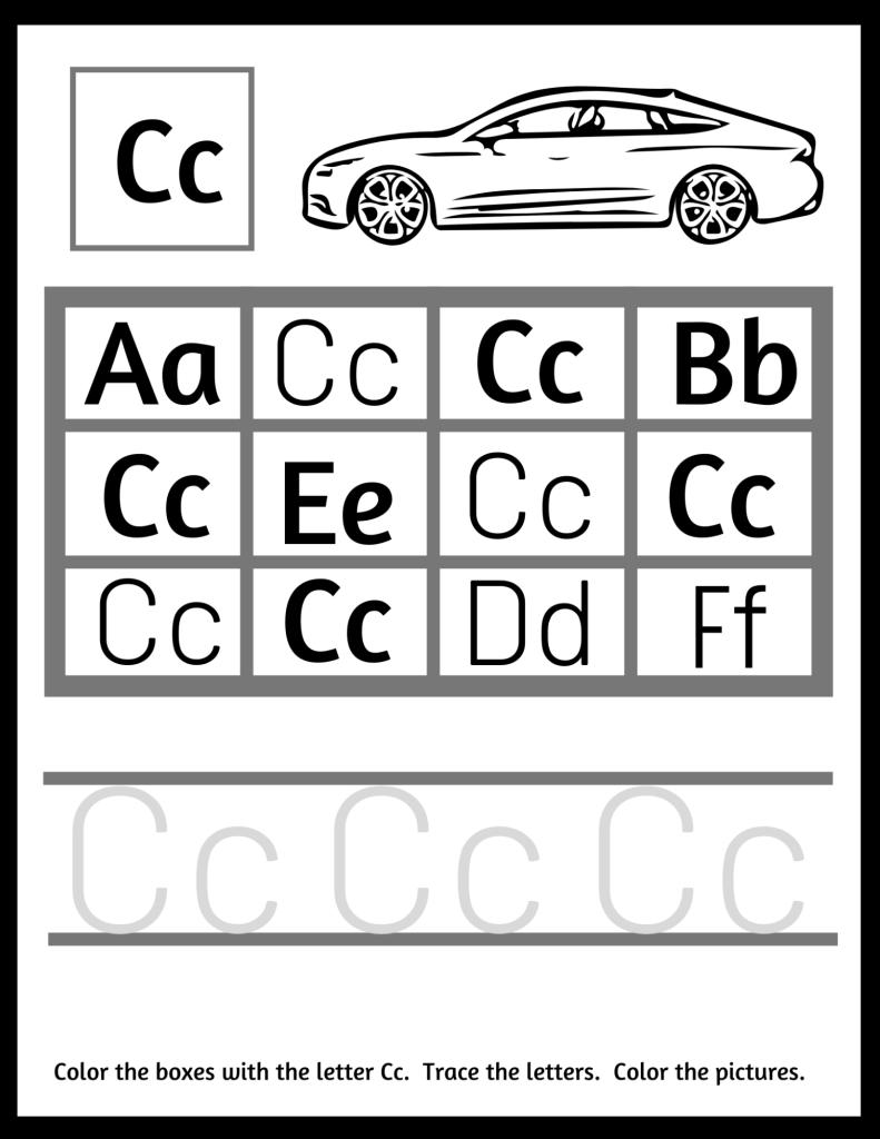 letter recognition worksheet
