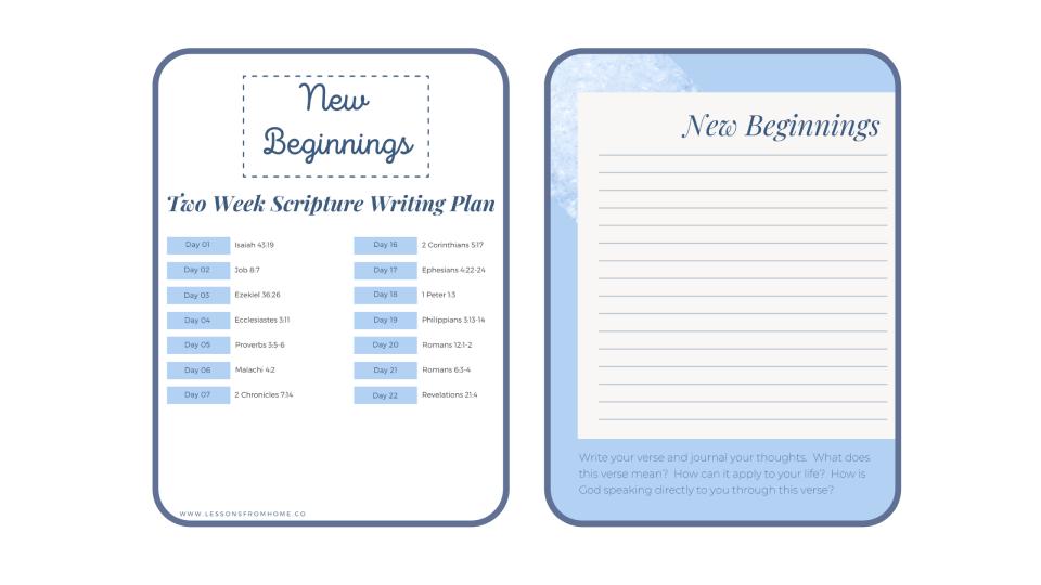printable scripture writing plan