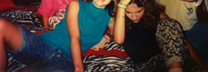 The legendary zebra bed and my infamous chubby cheeks of childhood:)