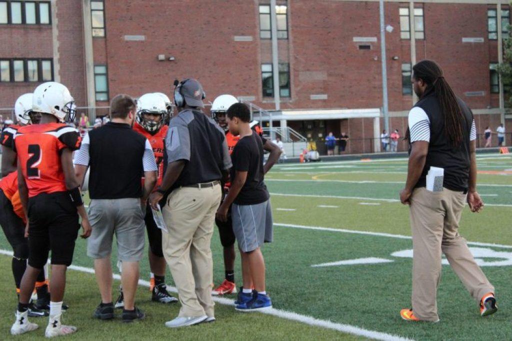 coach walker with team