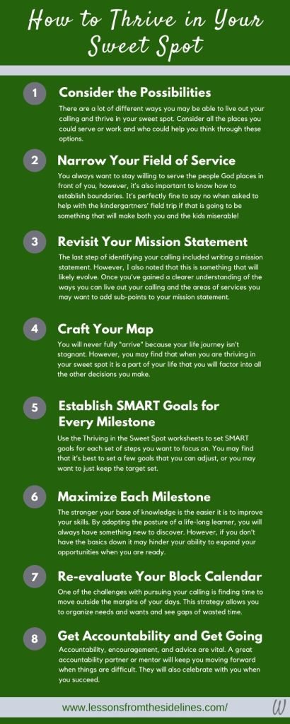 8 Steps to Thrive in Your Sweet Spot Infographic