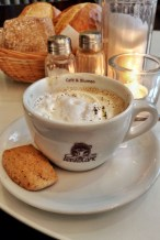 A cappuccino from Anna Blume cafe in Berlin, Germany, 2016.