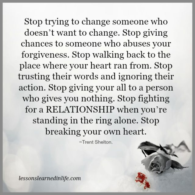 Stop Giving Chances Quotes
