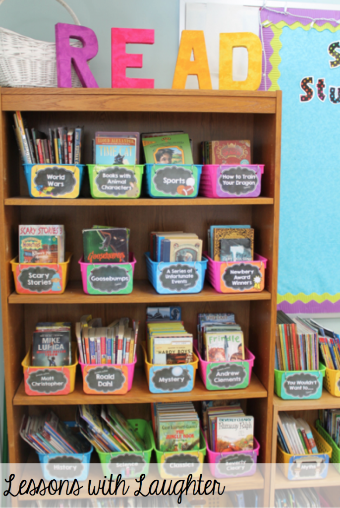 Classroom Library Organization - Lessons With Laughter