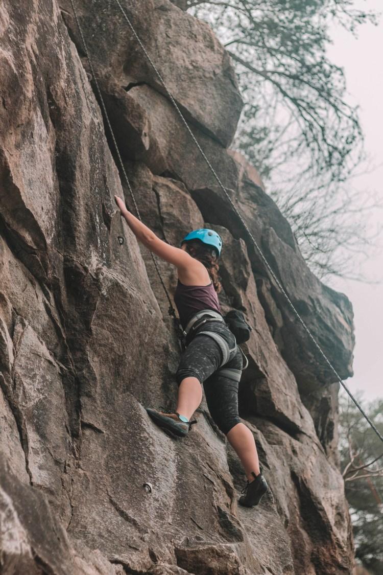 rock climbing at Rocky Face