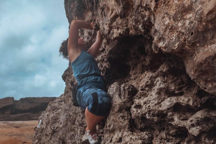 climbing in the Caribbean