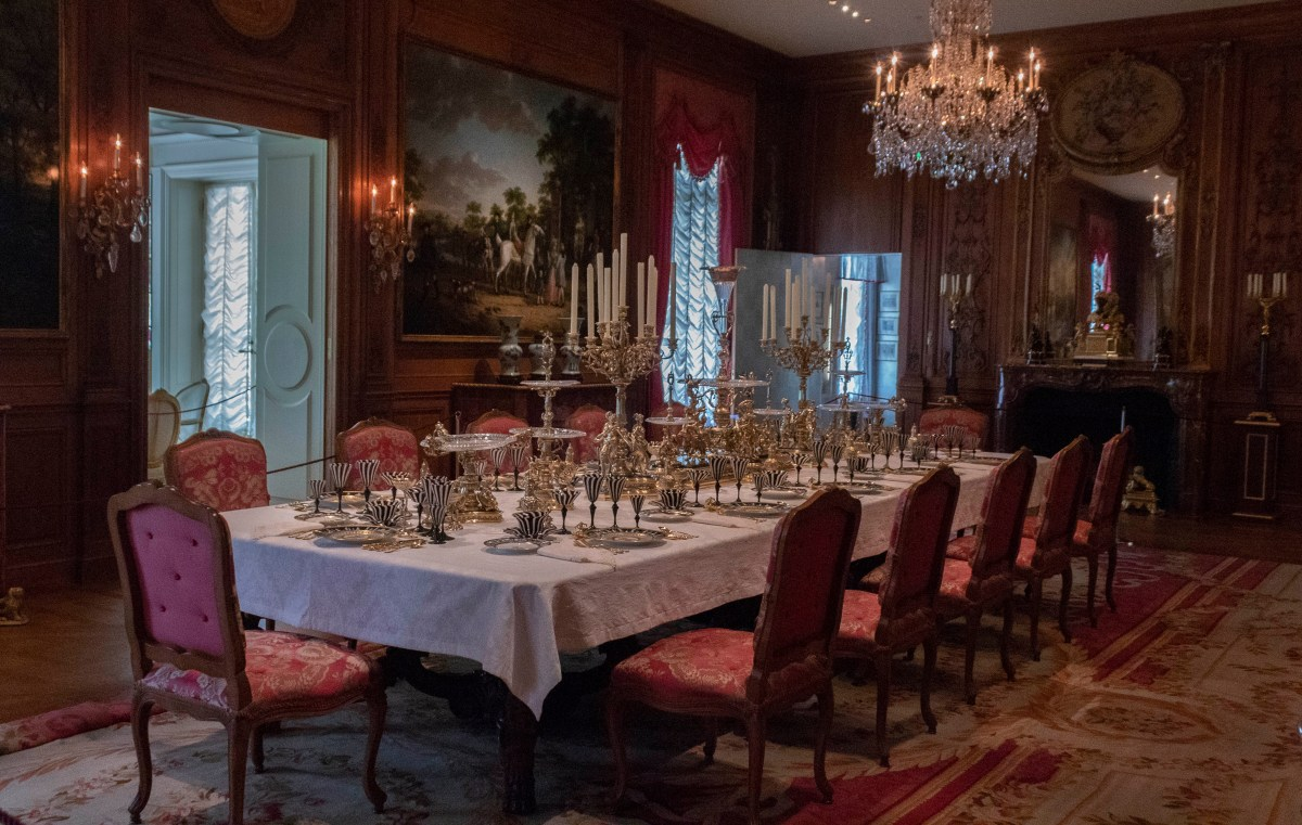 Hillwood Estate's dining hall