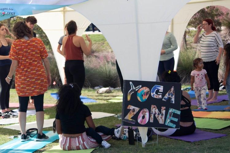 yoga at veg fest 2019