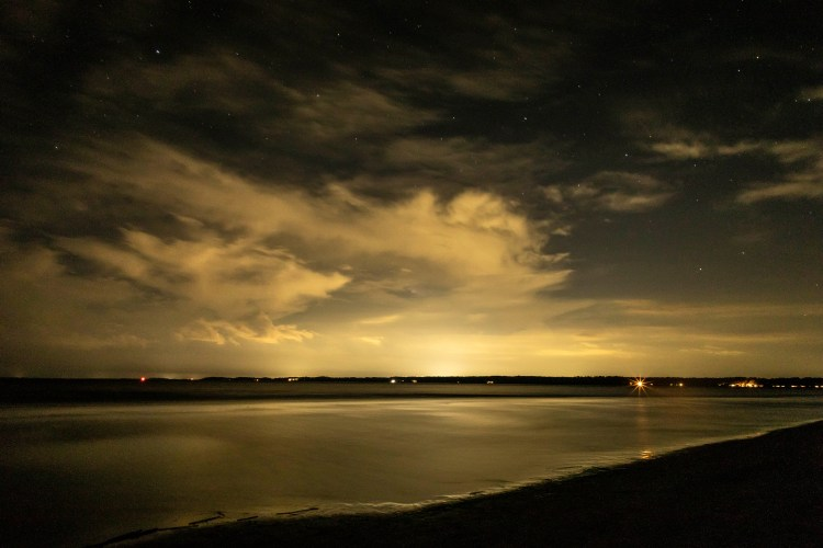Night views at Hilton Head Beach